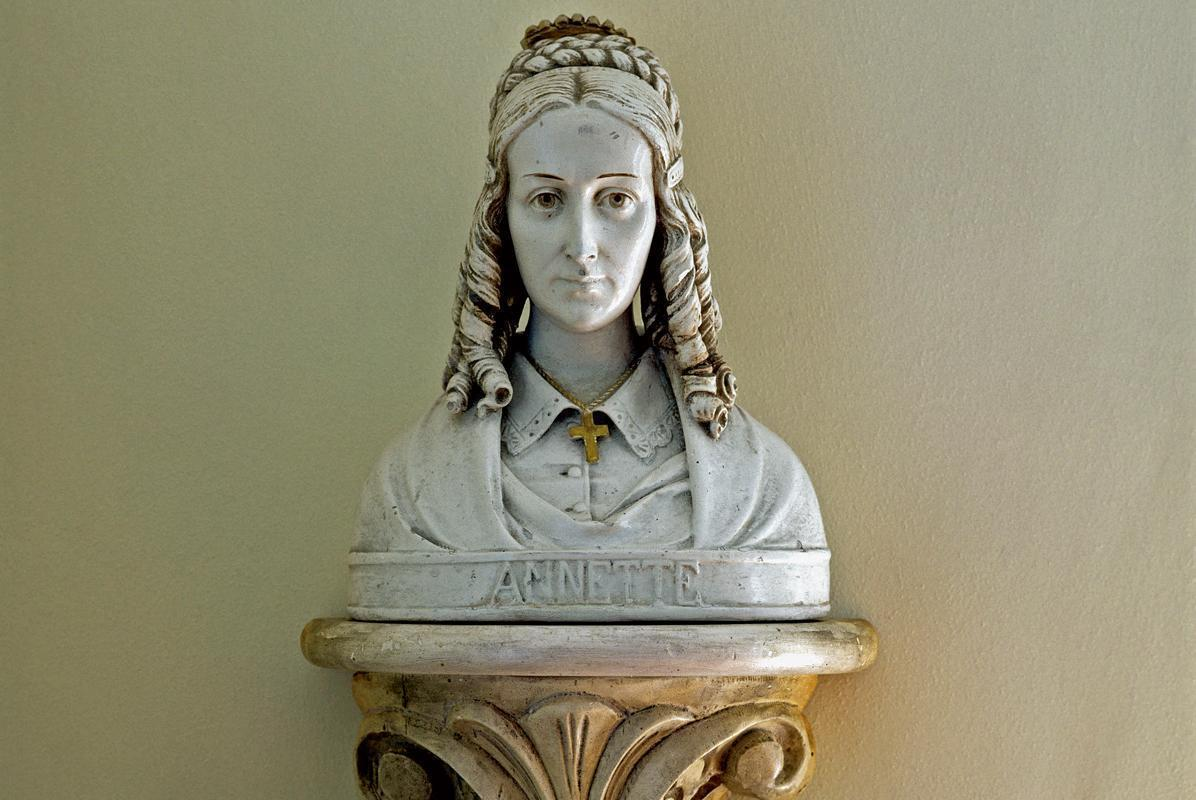Bust of Annette von Droste-Hülshoff by Anton Rüller at the Meersburg Prince's Little House