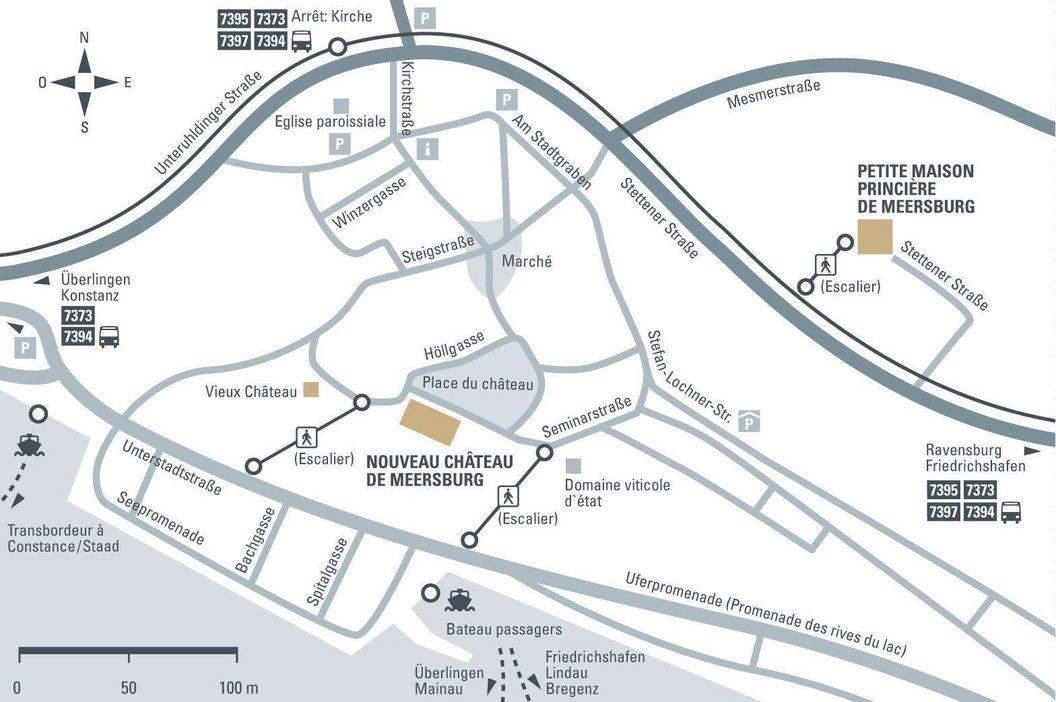 Petite maison princière  de Meersburg; Visuel des Staatliche Schlösser und Gärten Baden-Württemberg, Illustration JUNG:Kommunikation
