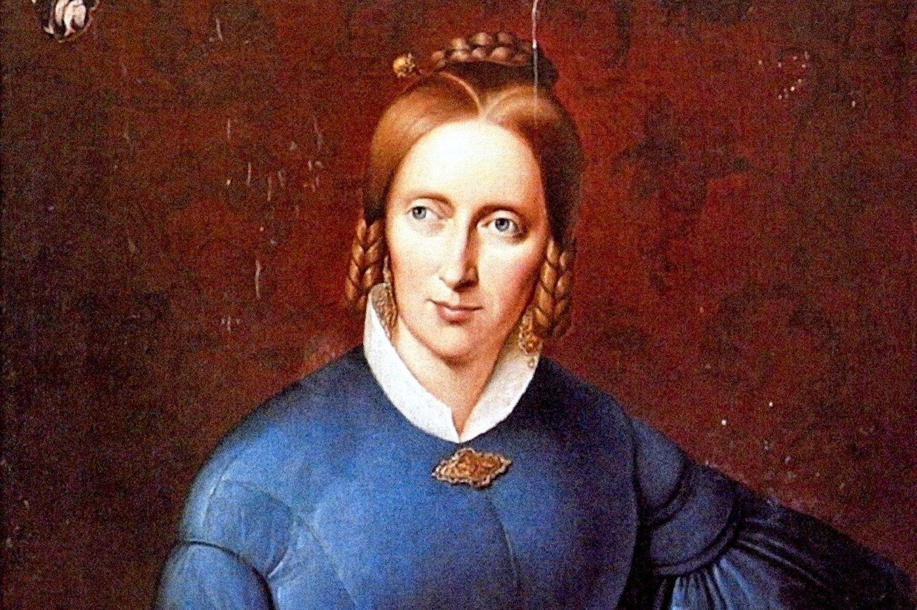 Annette von Droste-Hülshoff, Porträt von Johann Joseph Sprick, 1838